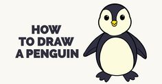 Learn How to Draw a Penguin: Really Easy Step-by-Step Drawing Tutorial for Kids and Beginners. #penguin #drawing #tutorial See the full tutorial at https://easydrawingguides.com/draw-penguin-really-easy-drawing-tutorial/