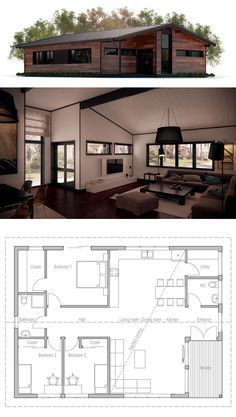 Container House - Container House - Small House Plan - Who Else Wants Simple Step-By-Step Plans To Design And Build A Container Home From Scratch? - Who Else Wants Simple Step-By-Step Plans To Design And Build A Container Home From Scratch? Modern House Plans, Small House Plans, House Floor Plans, Future House, My House, Building A Container Home, Container Homes, House Layouts, Little Houses