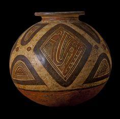 Jar with Abstract Crocodiles. Macaracas Style Polychrome, c. 950-1100 CE. Greater Coclé Region, Panama.