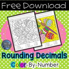 FREE - This color by number activity makes rounding decimals to the nearest whole number engaging and easy to assess. Students round over 100 decimals to the nearest whole number and use their solutions to color an Easter egg picture. *Note - Eggs are referred to as colorful eggs so this activity can be used in all classrooms.