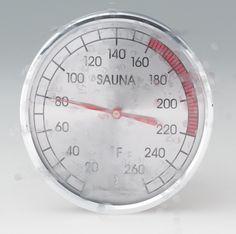 "Thermometer:  round 4"" Sauna Accessories, Sauna Heater, Sauna Room, Cooking Timer, Chrome, Ranges, Ceiling, Water"