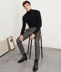 Men's Roll Neck Outfit Inspiration