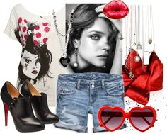 A fashion look from October 2009 featuring sequin shirt, blue shorts and black heeled booties. Browse and shop related looks. Sequin Shirt, Kurt Cobain, Blue Shorts, Sequins, Fashion Looks, Sunglasses, Words, Heels, Polyvore