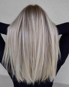 Blonde Hair Looks, Brown Blonde Hair, Platinum Blonde Hair, Blonde Wig, Blonde Color, Blonde Ombre, Ash Blonde Hair With Highlights, Cool Blonde Balayage, Balayage Straight