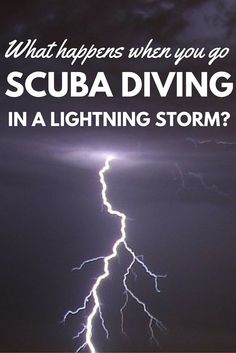 What's it like scuba diving in a lightning storm? Read all about my experience on Koh Tao, Thailand.