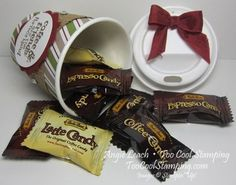 Mini coffee cups - candy spill