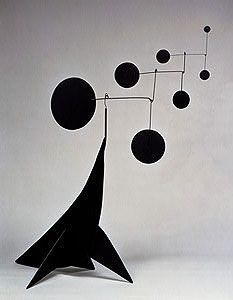 """Calder    Performing Seal, 1950  Sheet metal, wire, and paint  33"""" x 23"""" x 36"""""""