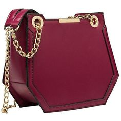 Reed Berry Shoulder Bag ($70) ❤ liked on Polyvore featuring bags, handbags, shoulder bags, purple shoulder bag, shoulder handbags, purple purse, berry handbag and geometric purse