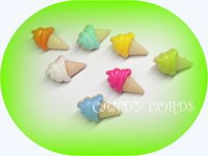 22mm Stunning Ice Cream Novelty Shanked Buttons Food Baby Doll Card Making 20