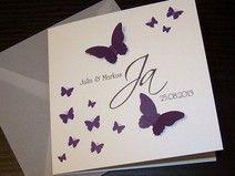 Einladungskarte Schmetterlingsschwarm