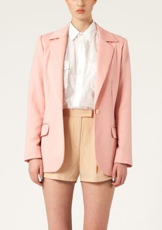 Blush coloured blazer.