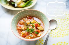 Zucchini and Potato Tomato Soup from The Little Kitchen