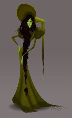 A rather sad looking but actually quite beautifully designed Elphaba by artist Elsa Chang