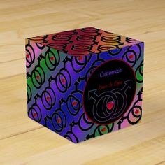 Shop Gay Marriage Love Is Love Rainbow Cube Favor Box created by BlueRose_Design. Love Rainbow, Rainbow Pride, Raffle Prizes, Vinyl Lettering, Favor Boxes, Party Printables, Corporate Events, Wedding Favors, Cube
