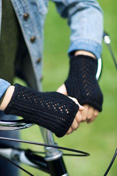 Lace Back Fingerless Gloves Pattern