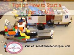 Tips on how to start a Lego Club #Lego #Legoclub by ASliceOfHomeschoolPie.com