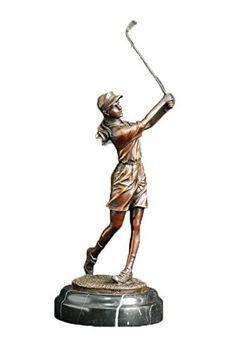 Top Bronze Female Figure Metal Statue Golf Player Home Deco Sculpture TPE505 *** Continue to the product at the image link.