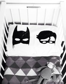 Batman and robin superhero pillowcase