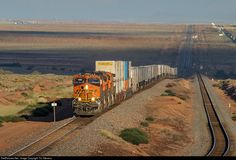 RailPictures.Net Photo: BNSF 6789 BNSF Railway GE ES44C4 at Winslow, Arizona by Tim Stevens