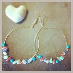 Hanalei Hoop Earrings, Ocean jewelry, Howlite Turquoise, Fresh Water Pearl(Keshi), Rose Quartz, Coral, Gold filled on Etsy, $36.83 AUD