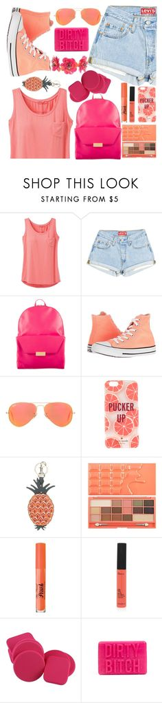 """""""DEAR."""" by valemx ❤ liked on Polyvore featuring prAna, STELLA McCARTNEY, Converse, Ray-Ban, Kate Spade, Valentino, Too Faced Cosmetics and Forest of Chintz"""
