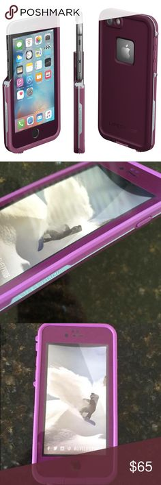 Purple iPhone 6 Lifeproof 📱 It  is a brand new never used Purple IPhone 6 Lifeproof case. If your wanting to purchase the case just comment on it. The first serious comment will get the case. I am out of town and won't be home to send it out until next week but I will get it to you as soon as I can!! ☺️☺️ Thanks! LifeProof Accessories Phone Cases