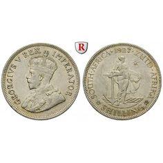 Südafrika, George V., Shilling 1893, ss+: George V. 1910-1936. Shilling 1893. KM 17.2; sehr schön +, Kratzer auf Vs. 30,00€ #coins