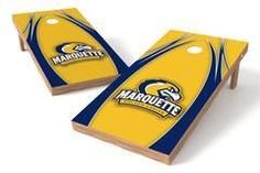 Marquette Golden Eagles Single Cornhole Board - The Edge