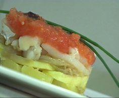 El timbal de patata y bacalao