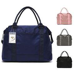 1679343d10dd5 FEDUAN Reisetasche Handgepäck Sport-Tasche wasserfest Handtasche  Einkaufstasche 42x15x33 Damen Weekender quadratisch pink rosa grau
