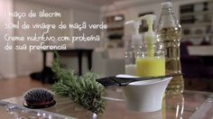 Use vinagre de maçã para limpar o couro cabeludo.   20 receitas caseiras de beleza para testar no fim de semana