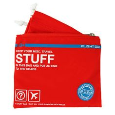 Go Clean Stuff Bag Red, $16, now featured on Fab.