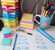 écrire sur post-it couleur pour réviser