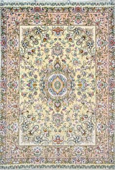 Khatibi Silk Persian Rug You pay: $4,500.00 Retail Price: $7,900.00 You Save: 43% ($3,400.00) Item#: EK-87 Category: Small(3x5-5x8) Persian Rugs Design: Center Medallion Floral Size: 148 x 219 (cm)      4' 10 x 7' 2 (ft) Origin: Persian, Tabriz Foundation: Silk Material: Wool & Silk Weave: 100% Hand Woven Age: Brand New KPSI: 550