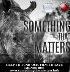 Visit: http://SomethingThatMatters.info  @Tim_Cook #UnityRally Congrats #AppleWatch Thanks for Sponsoring our #Film Something That Matters: Saving the #Rhino pic.twitter.com/Yg0siRrYV4