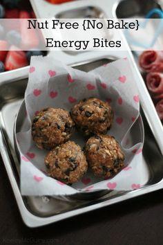Gluten Free & Allergy Friendly: Nut Free {No Bake} SunButter Energy Bites