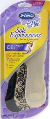 Dr. Scholl's Dr Scholl's For Her Sole Expressions Insole, Women's 6-10, 3-Pair (3-Pack) by Dr. Scholl's. $52.89