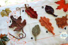 Autumn Leaves- a collection of knit patterns