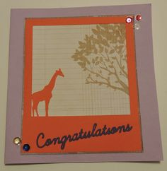 Congratulations Card; die cut and Silhouette Cameo