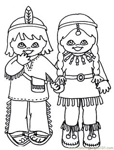 indian+coloring+sheets | free printable coloring page Indian Coloring Page 001 (4) (Cartoons ...