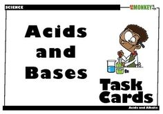 A set of 24 task cards designed for students to independently, or in groups, review the acids and bases. Includes questions on the following themes; 1. Acids 2. Bases 3. Indicators Included in this kit: - 24 task cards focusing on different aspects of acids and bases. - Student solution sheet on which to record answers. - Teacher