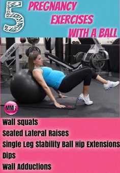 5 Pregnancy Exercises With A Ball to help prevent too much weight gain during pregnancy. Great pregnancy workout you can do from home.  http://michellemariefit.publishpath.com/5-pregnancy-exercises-with-a-ball