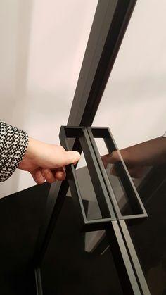 Door frame and handle