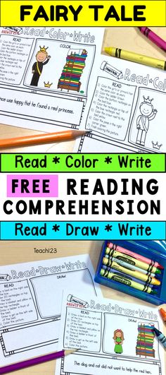 Read Color Reading Comprehension Fairy Tales Princess and the Pea - Frieda Fairy Tale Activities, Reading Activities, Reading Centers, Reading Groups, Reading Workshop, Literacy Centers, Guided Reading, Play Scripts For Kids, Have Fun Teaching