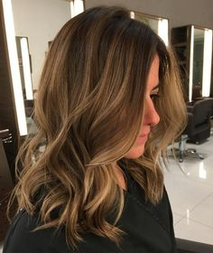 50 Ideas for Light Brown Hair with Highlights and Lowlights Caramel Blonde Balayage For Light Brown Hair Medium Brown Hair, Brown Ombre Hair, Brown Hair Balayage, Ombre Hair Color, Light Brown Hair, Light Hair, Hair Color Balayage, Brown Hair Colors, Burgundy Hair