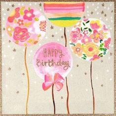 49 Trendy birthday balloons pictures inspiration baby girls - the Best of Everything Happy Birthday Art, Happy Birthday Wishes Cards, Birthday Girl Quotes, Birthday Blessings, Happy Birthday Images, Birthday Crafts, Birthday Pictures, Funny Birthday, Happy B Day
