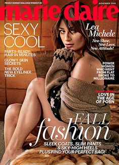 Lea Michele wearing #maxmara on the cover of the november Issue of Marie Claire US