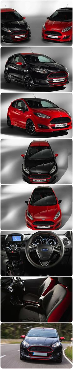 Ford Fiesta ZETEC S a True 1.0-LITRE Performer. The Ford Fiesta Zetec S Red and Black Edition, the two new Fiestas make an unquestionably bold statement on the road and will give drivers an equally distinctive experience behind the wheel. A sportier version of the 1.0-litre EcoBoost and enhancements to the Fiesta's acclaimed ride and handling. With more power per litre than a Bugatti Veyron and Ferrari 458 Speciale. #Ford #fiesta #drive #newcars #fun