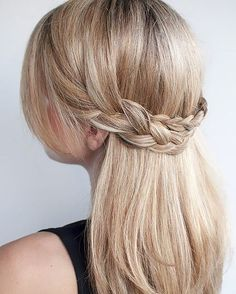 Braided Waterfall Hairstyle