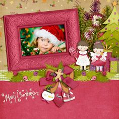 Created with HOHOHO Bundle by Maria Designs. Dear Friend, Digital Scrapbooking, Pink And Green, Layouts, Messages, Create, Gallery, Design, Maids